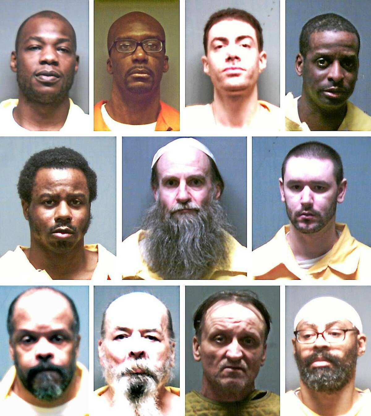 The 11 inmates on death row in Connecticut. Photos provided by the Connecticut Department of Correction.