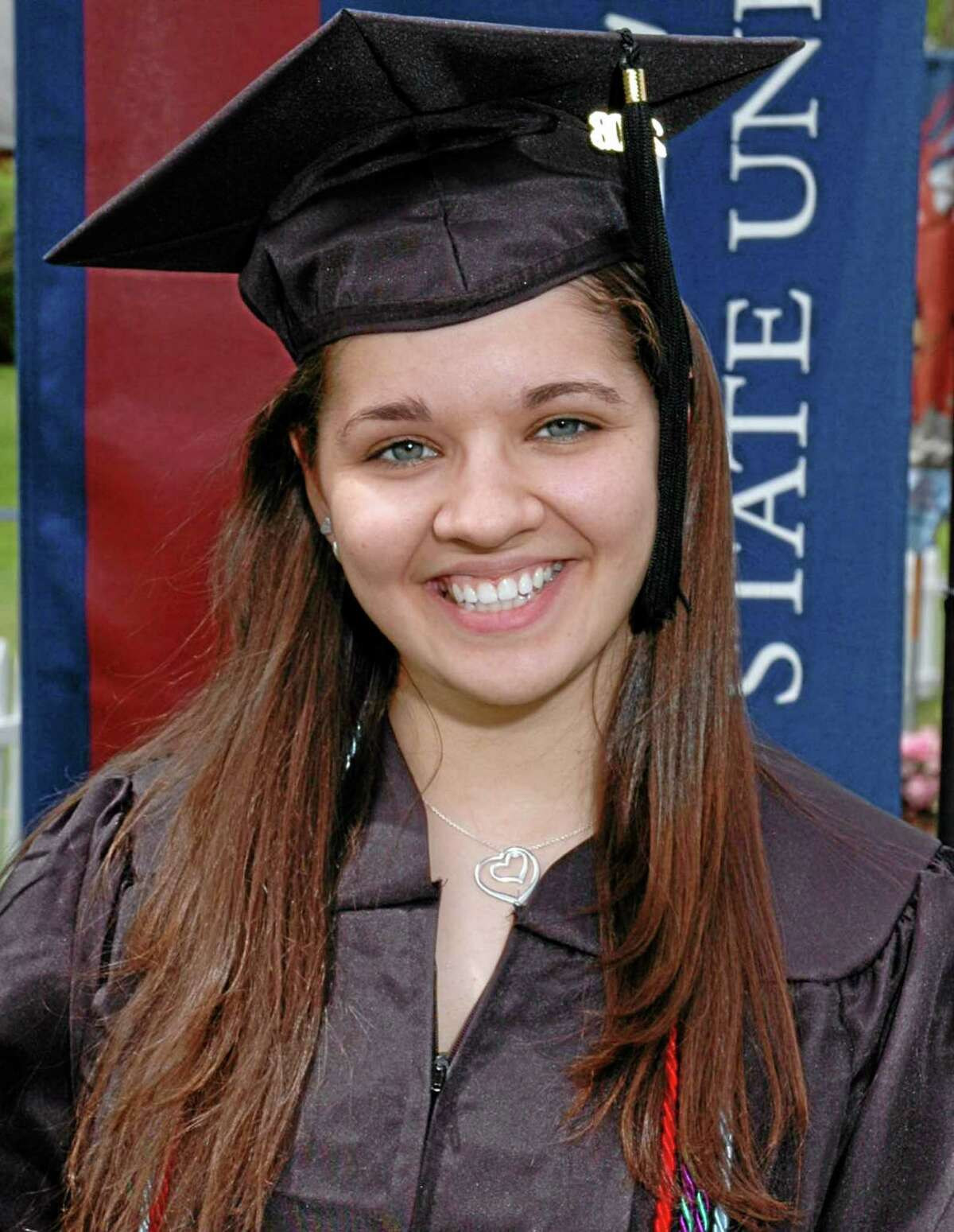 FILE - This undated file photo provided to The Associated Press by Eastern Connecticut University shows Sandy Hook Elementary School teacher Victoria Soto. (AP Photo/Eastern Connecticut University, File)