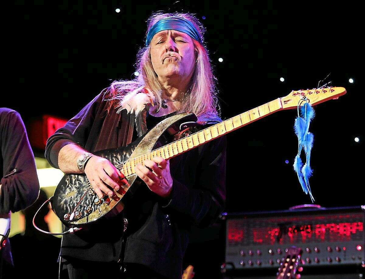 Photo by John Atashian German guitarist, Uli Jon Roth, who became famous as Scorpions lead guitarist, is shown performing on stage during a ìliveî concert appearance with his solo band at Infinity Hall in Hartford on Thursday, Feb. 5. The evening of heavy metal music also featured performances by guitarist extraordinaire Vinnie Moore and the debut of Black Knights Rising featuring guitarist Craig Goldie, drummer Vinnie Appice, singer Mark Boals and bassist Elliott Dean Rubinson.