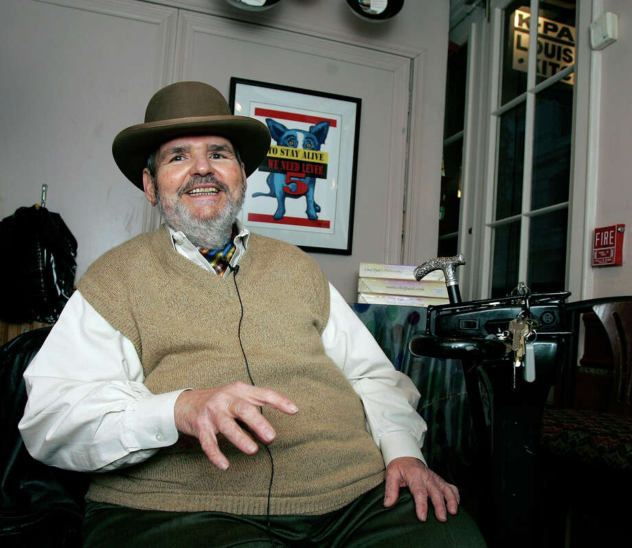 In this Friday, Feb. 2, 2007 file photo, chef Paul Prudhomme gestures during an interview at his French Quarter restaurant, K-Paul's Louisiana Kitchen, in New Orleans. Prudhomme, the Cajun who popularized spicy Louisiana cuisine and became one of the first American restaurant chefs to achieve worldwide fame, died Thursday, Oct. 7, 2015. He was 75. Photo: AP Photo/Bill Haber, File  / AP