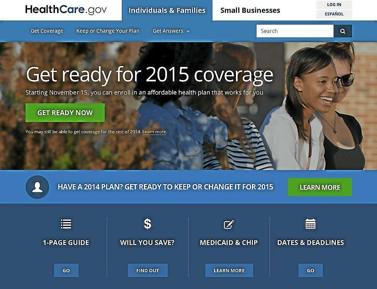 This image shows the website for updated HealthCare.gov, a federal government website managed by the U.S. Centers for Medicare & Medicaid Service.