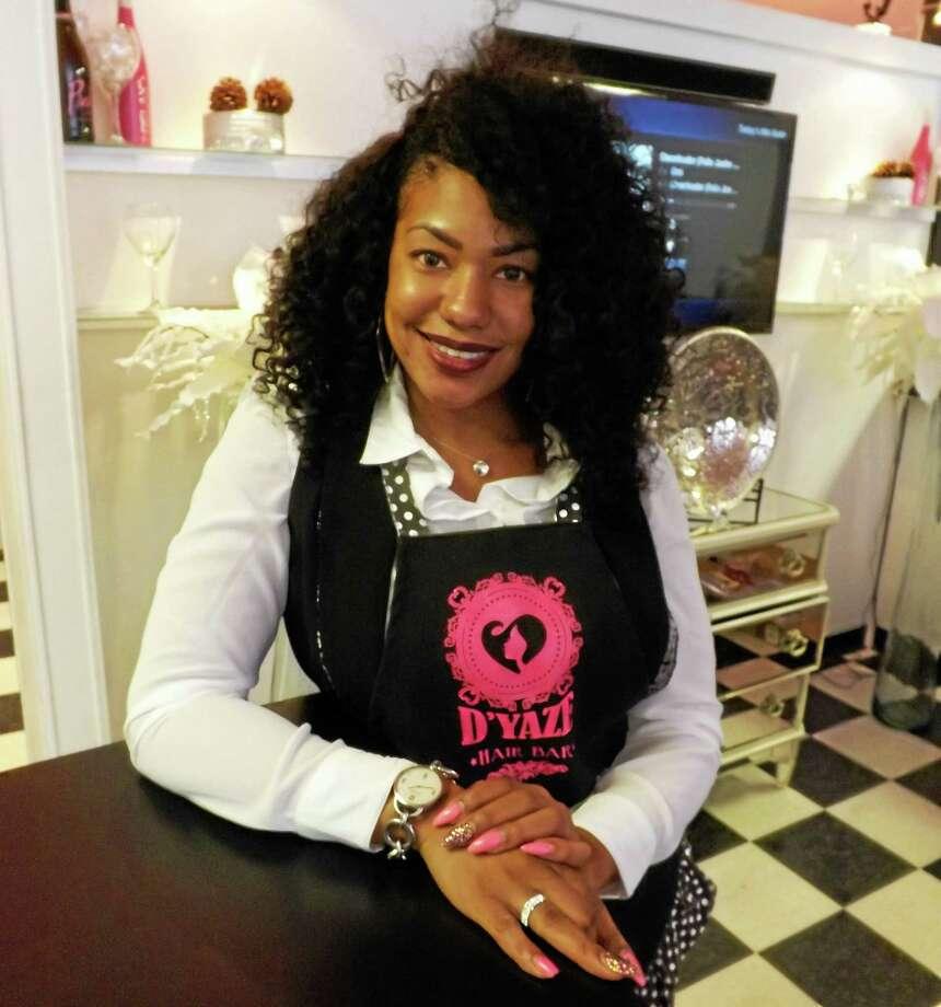 On Oct. 24, D'Yaze Hair Bar owner Doris Glenn will host a Pink Tie Bash in Middletown. Photo: Robert Mayer — The Middletown Press