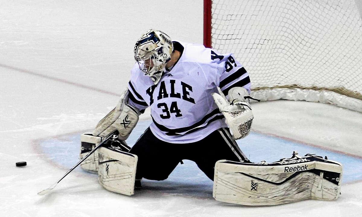Yale goalie Alex Lyon led the nation in goals-against average, shutouts and save percentage last season.