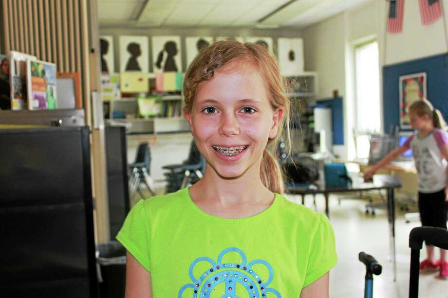 Katie Gendrich of Middletown, a fifth-grader at The Independent Day School in Middlefield, is one of several students who have moved on to the regional qualifying round in the National History Bee. Photo: Courtesy Photo