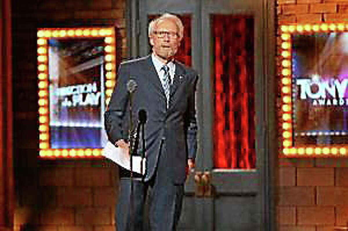 Clint Eastwood speaks onstage during the 68th Annual Tony Awards at Radio City Music Hall on June 8, 2014, in New York City.