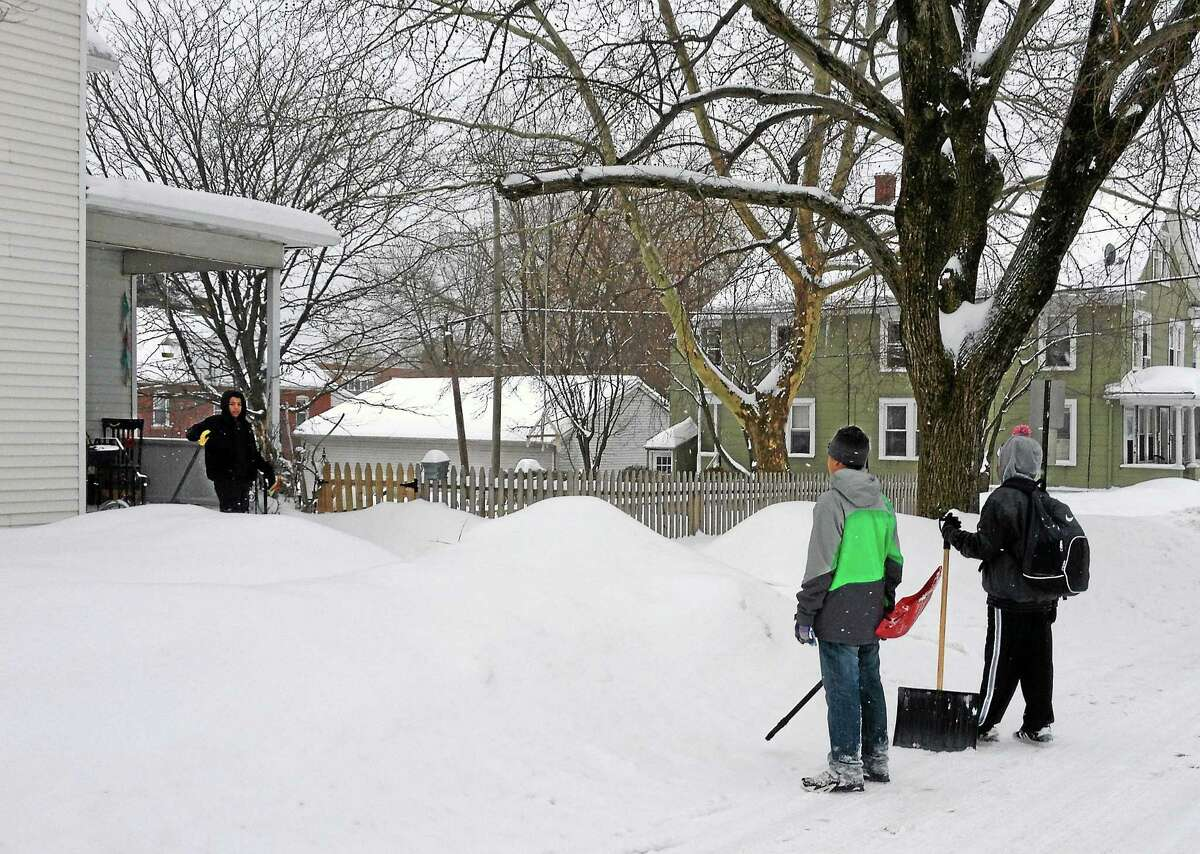 For the third Monday in a row, Middletown and the rest of Middlesex County was walloped by a winter storm. With only half of residential sidewalks shoveled out by afternoon, many pedestrians were forced to walk in the street.