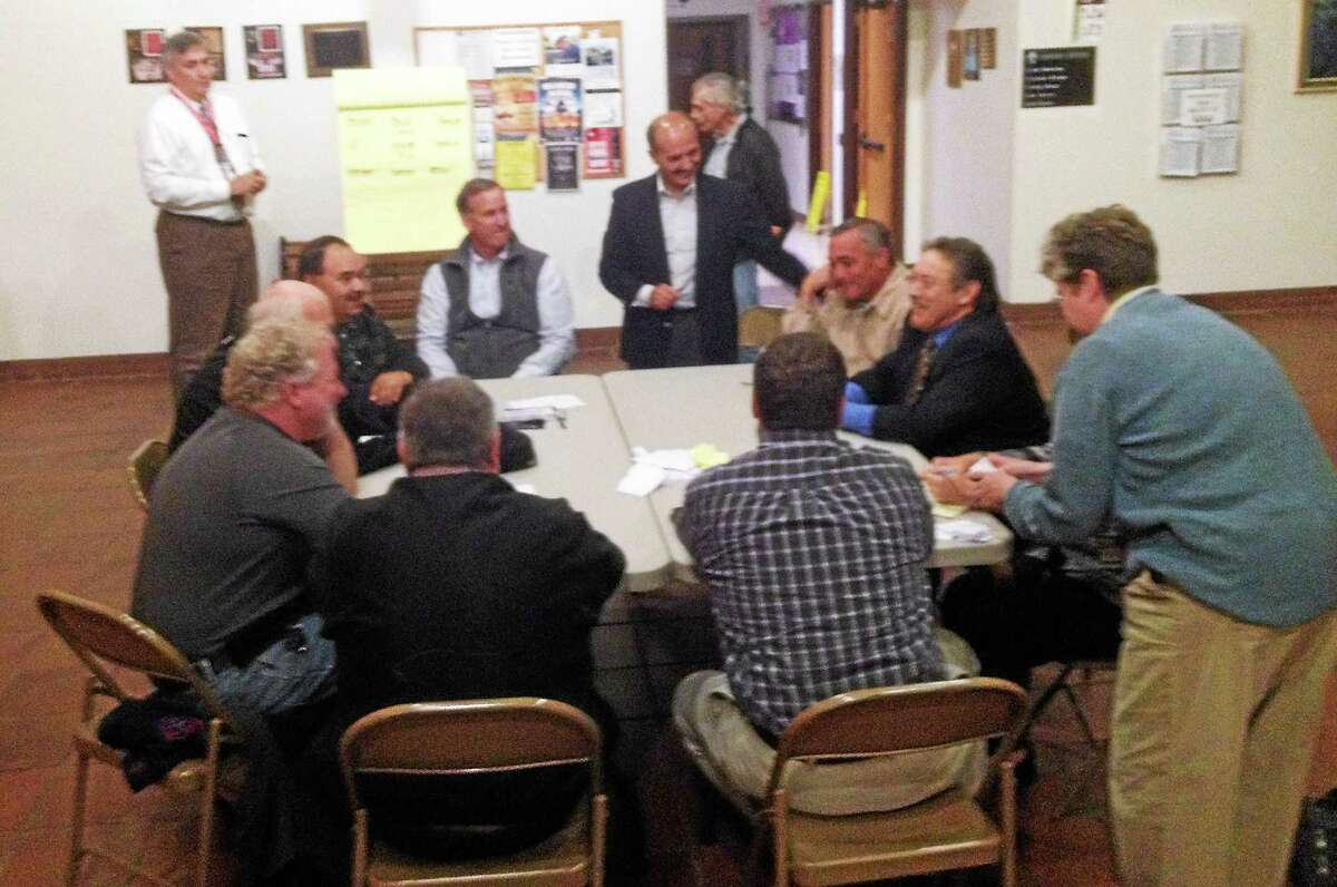 Jeff Mill - The Middletown Press The Cromwell Fire District Board of Commissioners vote took place Tuesday evening.