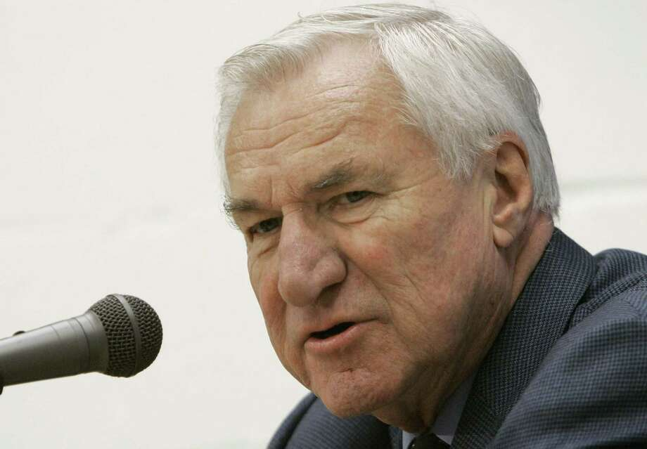 Former North Carolina coach Dean Smith died at his home Saturday night the school said in a statement on Sunday from Smith's family. He was 83. Photo: The Associated Press File Photo  / AP