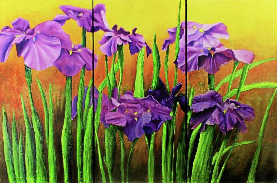 Sunset Irises by Armida Espaillat Photo: Journal Register Co.