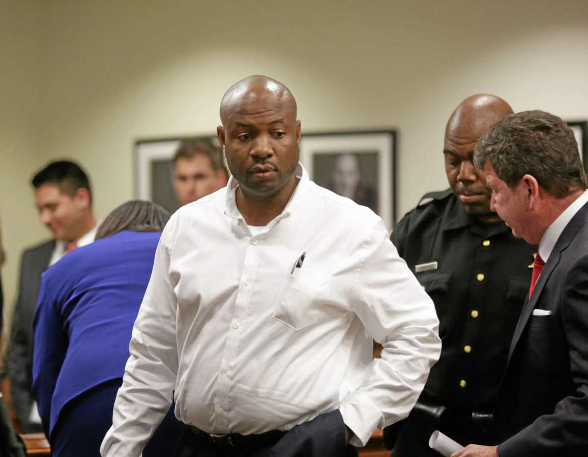 Truck driver Kevin Roper attends his first appearance at the Middlesex County Courthouse, Wednesday. Roper pleaded not guilty in the fatal New Jersey Turnpike crash that also injured comedian Tracy Morgan. Investigators are looking into what role Roper's long commute to work played in the accident.