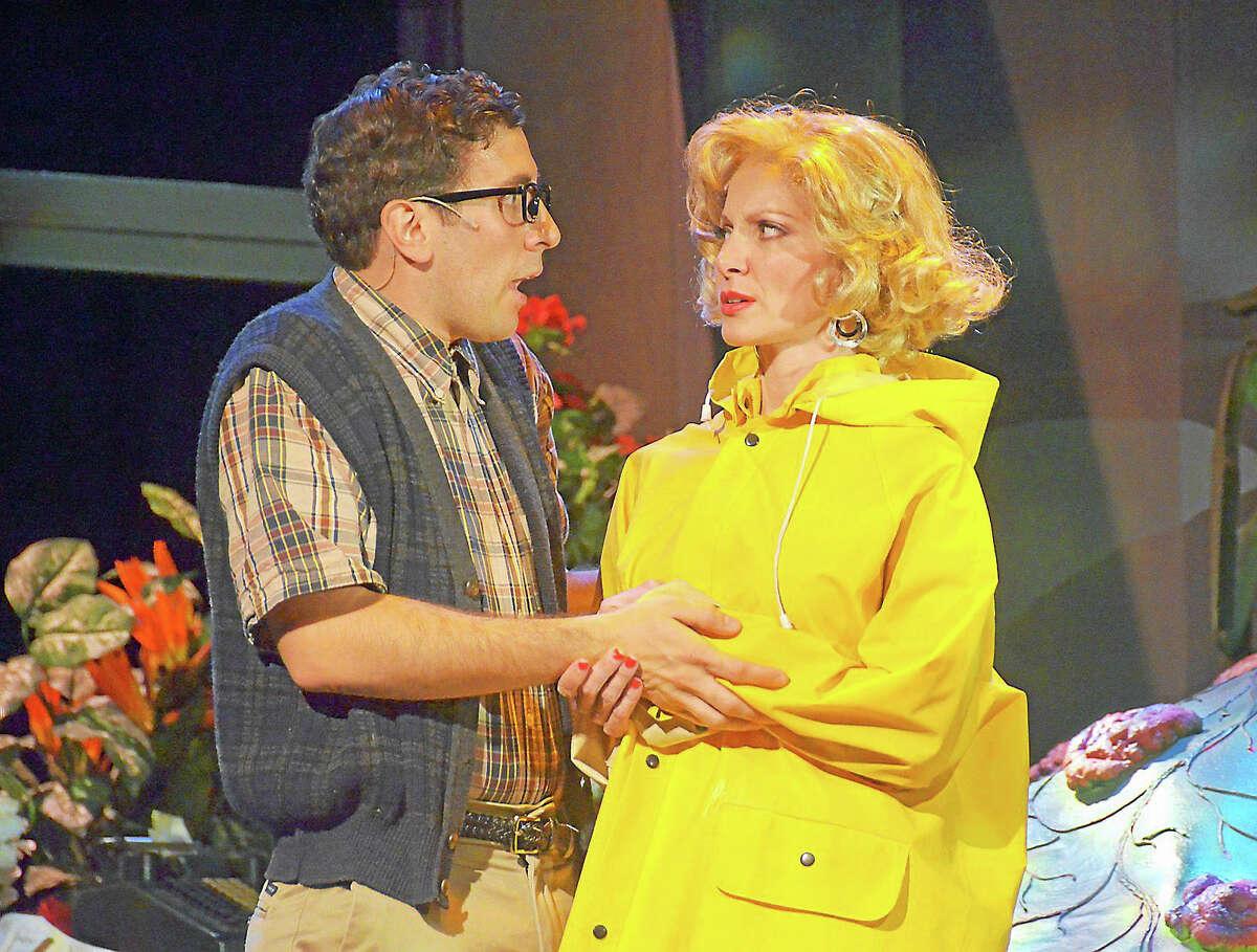 Photos by Roger U. WilliamsSeymour (Nicholas Park) and Audrey (Laura Woyasz) star in
