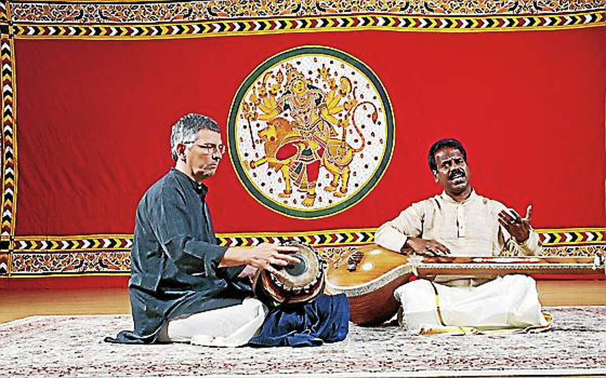 Contributed photoVocalist and Adjunct Assistant Professor of Music B. Balasubrahmaniyan is joined by Adjunct Assistant Professor of Music David Nelson on mridangam and violinist K.V.S. Vinay.