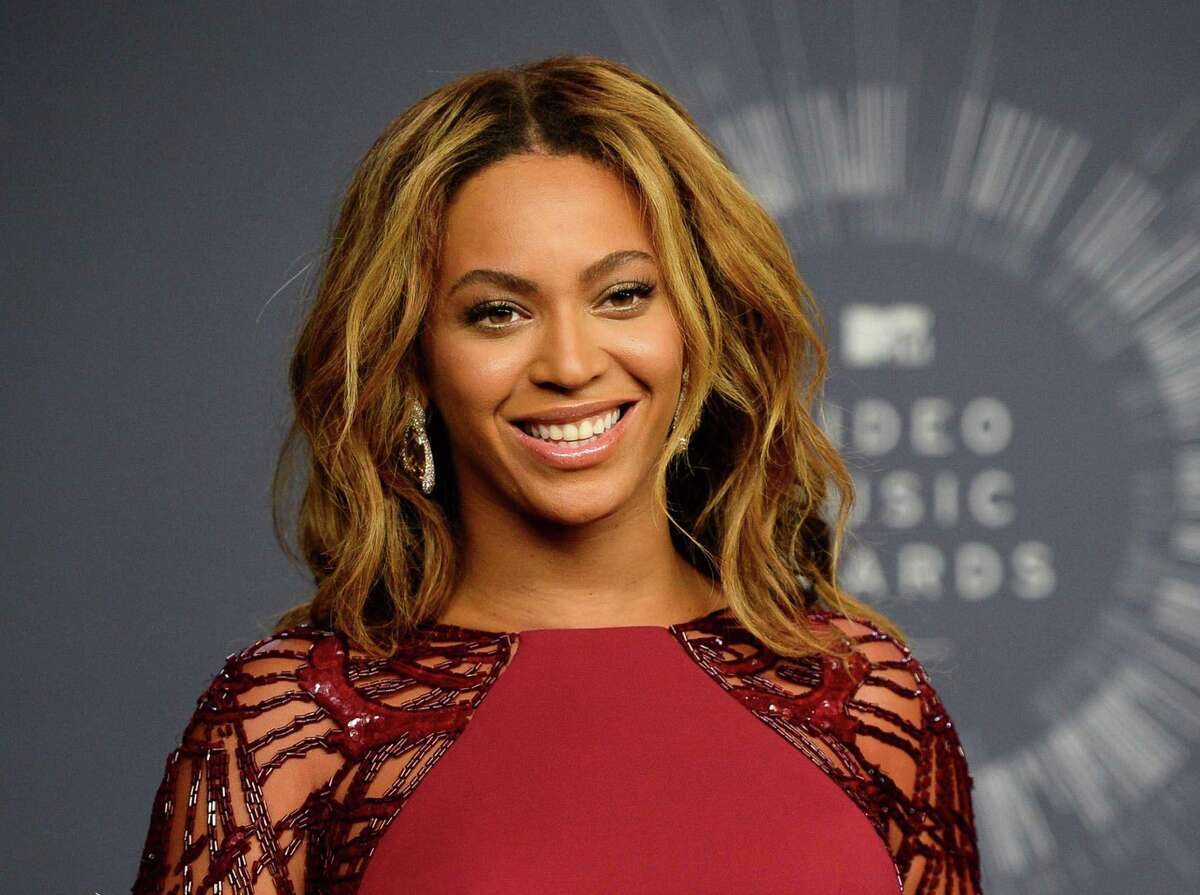 In this Aug. 24, 2014 photo, Beyonce is backstage at the MTV Video Music Awards in Inglewood, Calif.