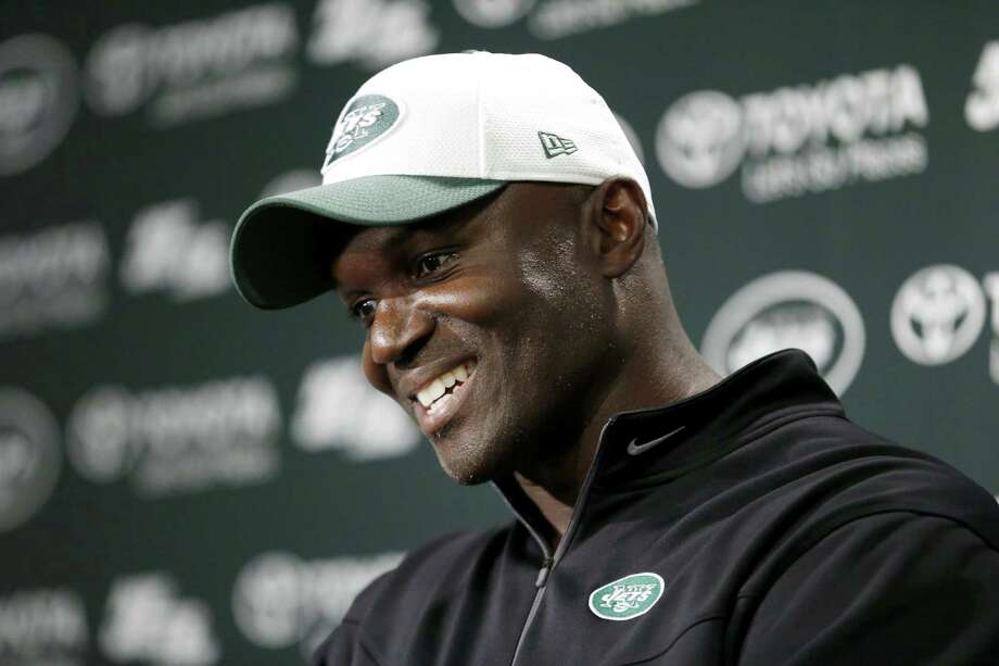 New York Jets head coach Todd Bowles speaks to reporters during a mandatory minicamp at the team's facility on Tuesday in Florham Park, N.J. Photo: Julio Cortez — The Associated Press  / AP