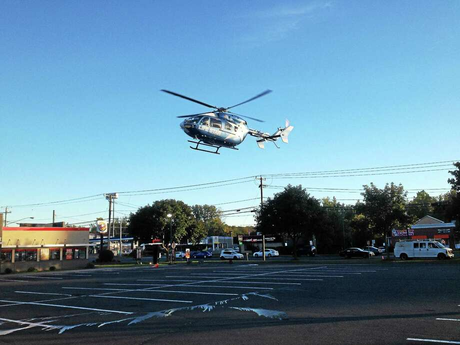 LifeStar helicopter Photo: Jeff Mill —The Middletown Press