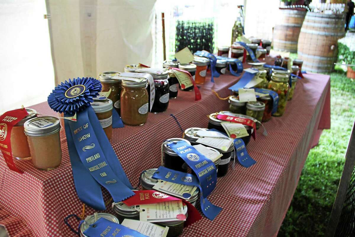 Submitted photos Award-winning preserves are displayed at the Portland Fair.