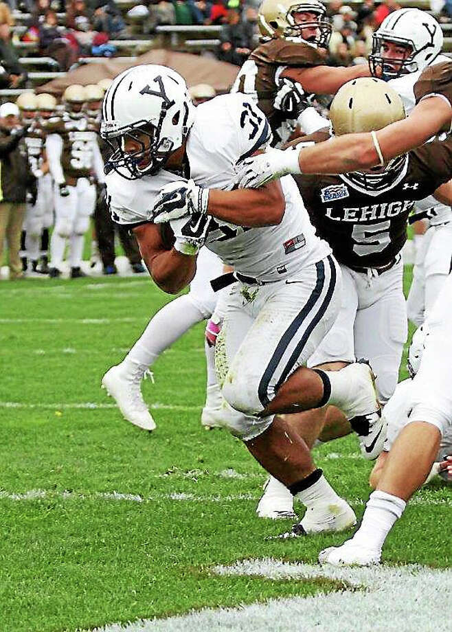 Yale sophomore running back Deshawn Salter rushed for 233 yards and two touchdowns in a 27-12 win over Lehigh on Saturday. Photo: Photo Courtesy Of Yale Athletics