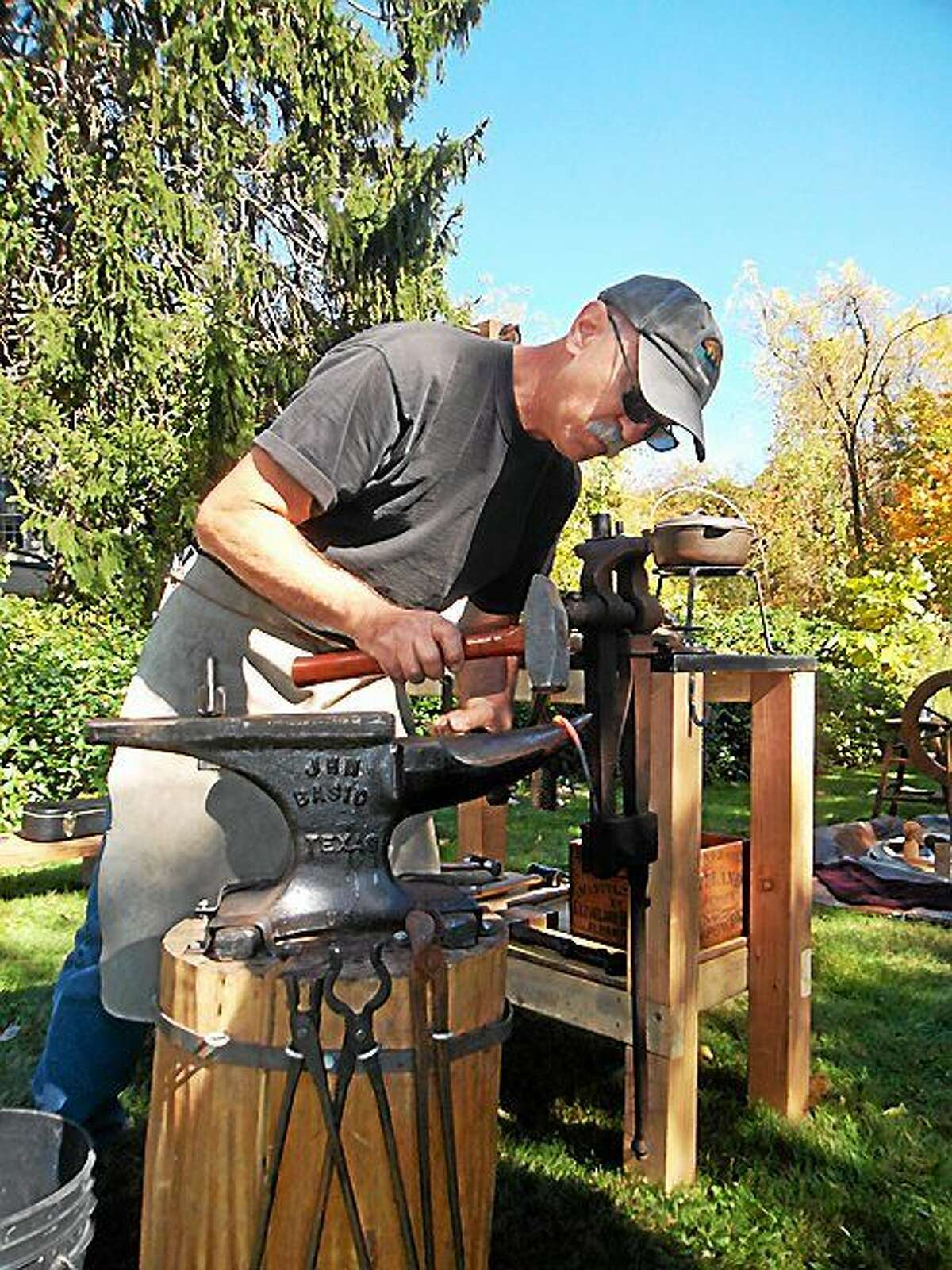 Submitted photo Blacksmith Ross Johnson will take part in the upcoming Chatham History Festival in East Hampton.