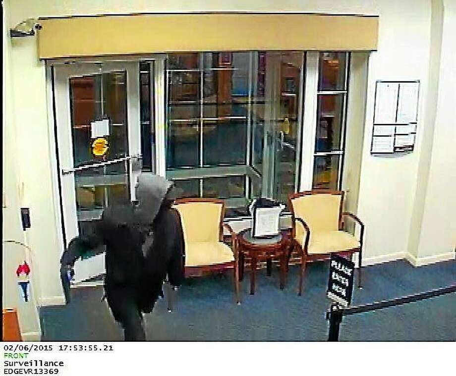 A man robbed Liberty Bank on Washington Street in Middletown on Feb. 6, police say. Photo: Courtesy Middletown Police