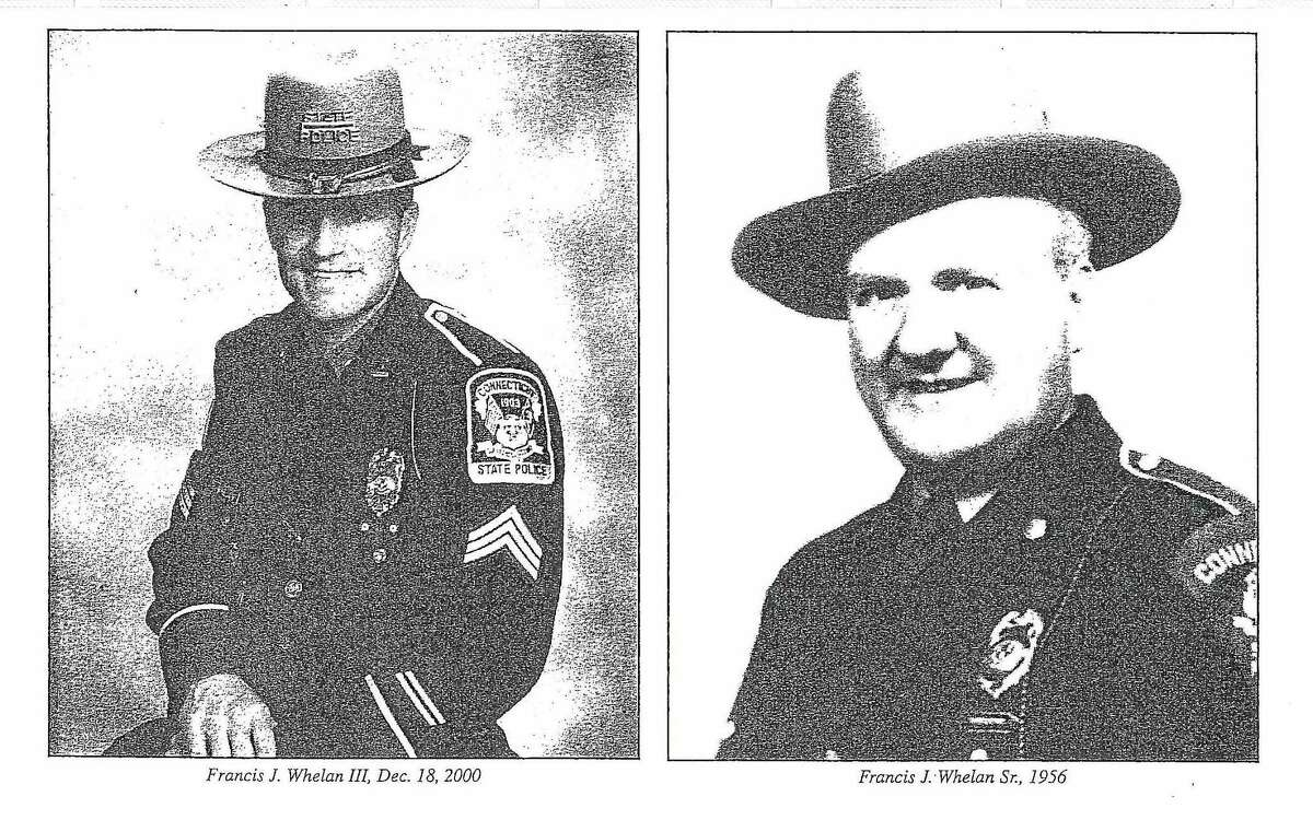 State police Sgt. Francis J. Whelan III (in December 2000) and Inspector Francis J. Whelan Sr. (in 1956)