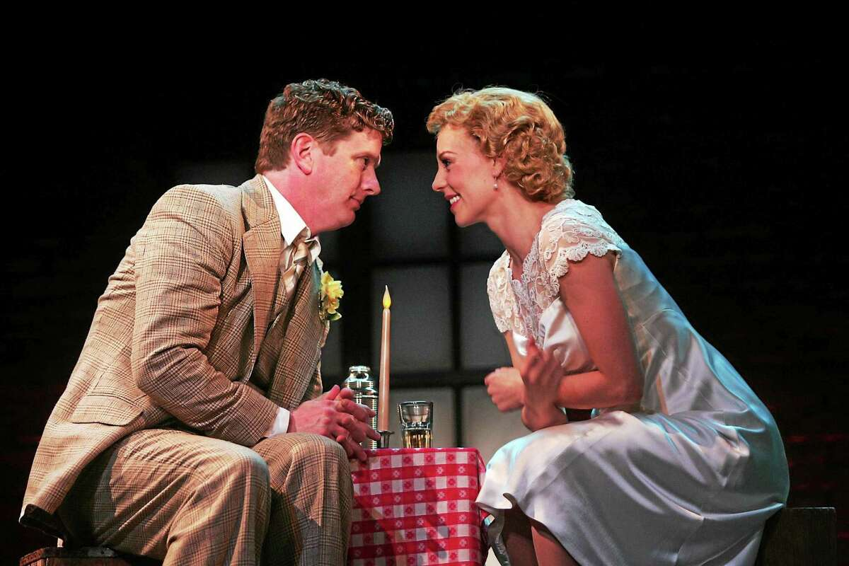Goodspeed Musicals Duke Lafoon as George Bailey with Kirsten Scott as Mary in