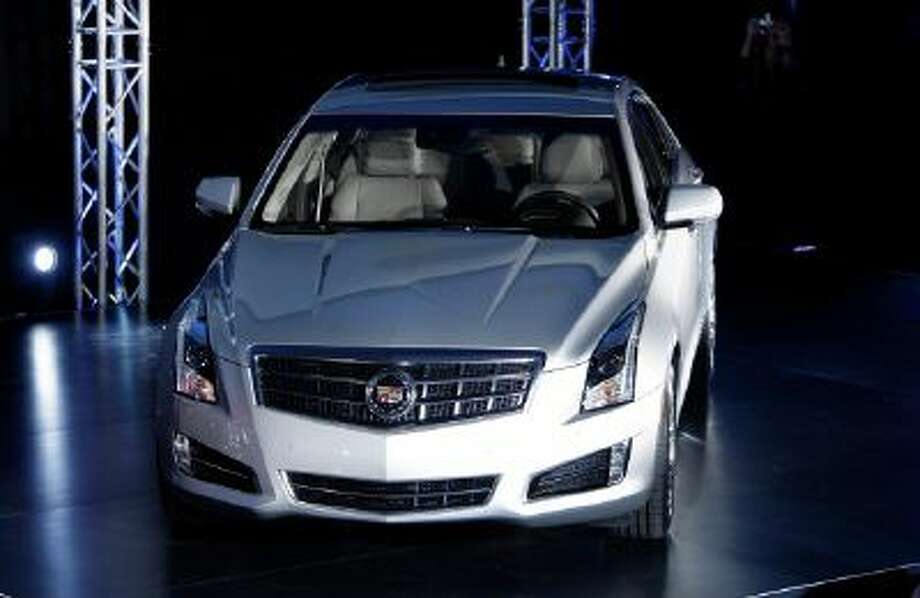 The 2013 Cadillac ATS makes its debut prior to the North American International Auto Show in Detroit, Sunday, Jan. 8, 2012.