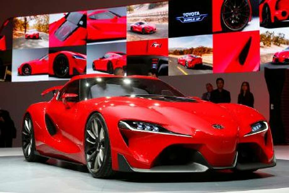 The Toyota FT-1 concept is unveiled during media previews during the North American International Auto Show in Detroit, Monday, Jan. 13, 2014.