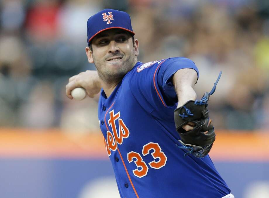 Mets starter Matt Harvey delivers a pitch during the first inning of Wednesday's game against the San Francisco Giants in New York. Photo: Frank Franklin II — The Associated Press  / AP