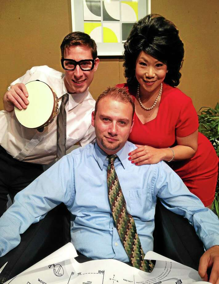 "Photo courtesy of CT Cabaret Theatre From left, CT Cabaret Theatre cast members James J Moran, Chris Brooks and Sandra Lee in ""The Nerd."" Photo: Journal Register Co."