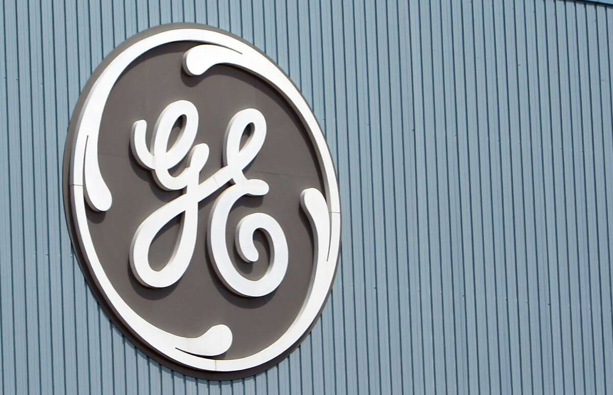This June 24, 2014 photo shows the General Electric logo at a plant in Belfort, eastern France.