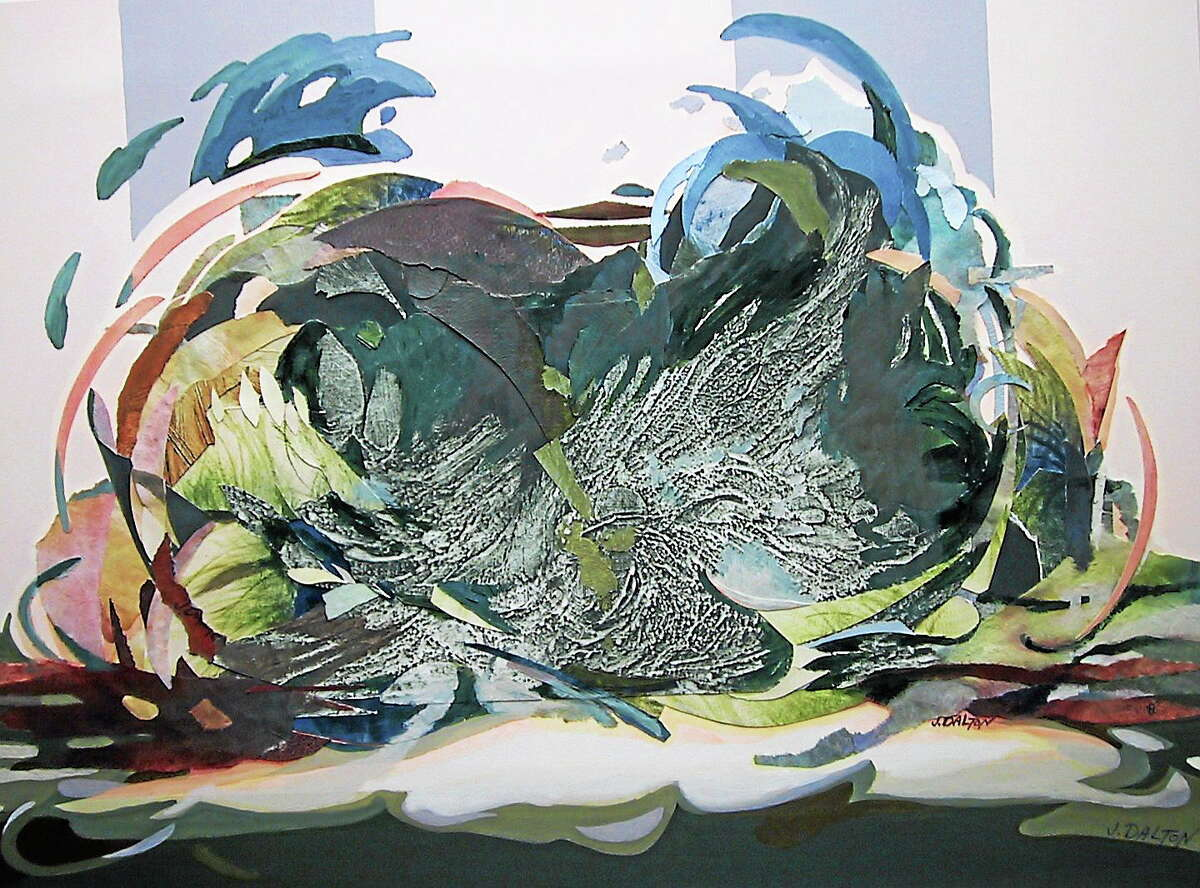 """""""Earth Odyssey"""" by Jean Dalton of Glastonbury is featured in Maple & Main's latest exhibit."""
