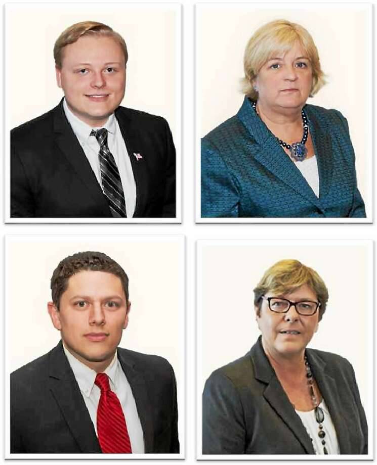 Clockwise from top left are Republican Middletown Board of Education candidates Troy Meeker, Linda Salafia, Cheryl McClellan and Chris Petter. Photo: Courtesy Middletown Republicans