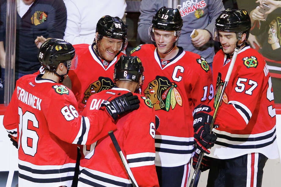 The Chicago Blackhawks are looking to win fourth Stanley Cup title in the last seven years this season. Photo: The Associated Press File Photo  / FR170974 AP