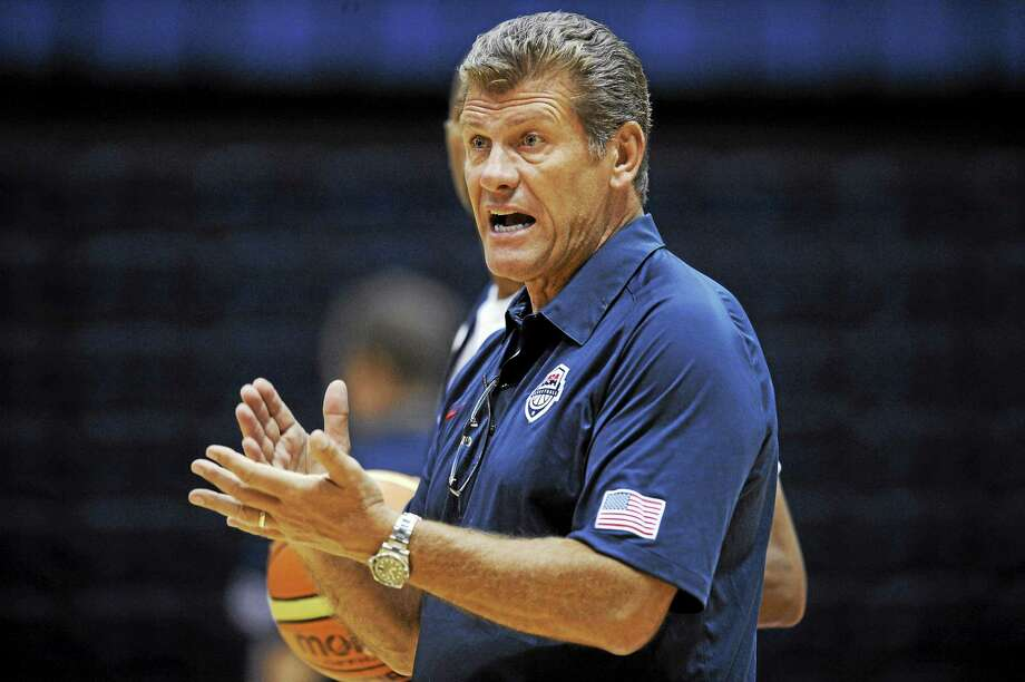 UConn coach Geno Auriemma and the United States will play for the FIBA World Championship for Women today vs. Spain. Photo: Nick Wass — The Associated Press File Photo  / FR67404 AP
