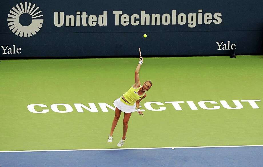 Magdalena Rybarikova serves during her 6-4, 6-2 loss to Petra Kvitova in the final of last year's Connecticut Open in New Haven. Photo: Fred Beckham — The Associated Press File Photo  / FR153656 AP