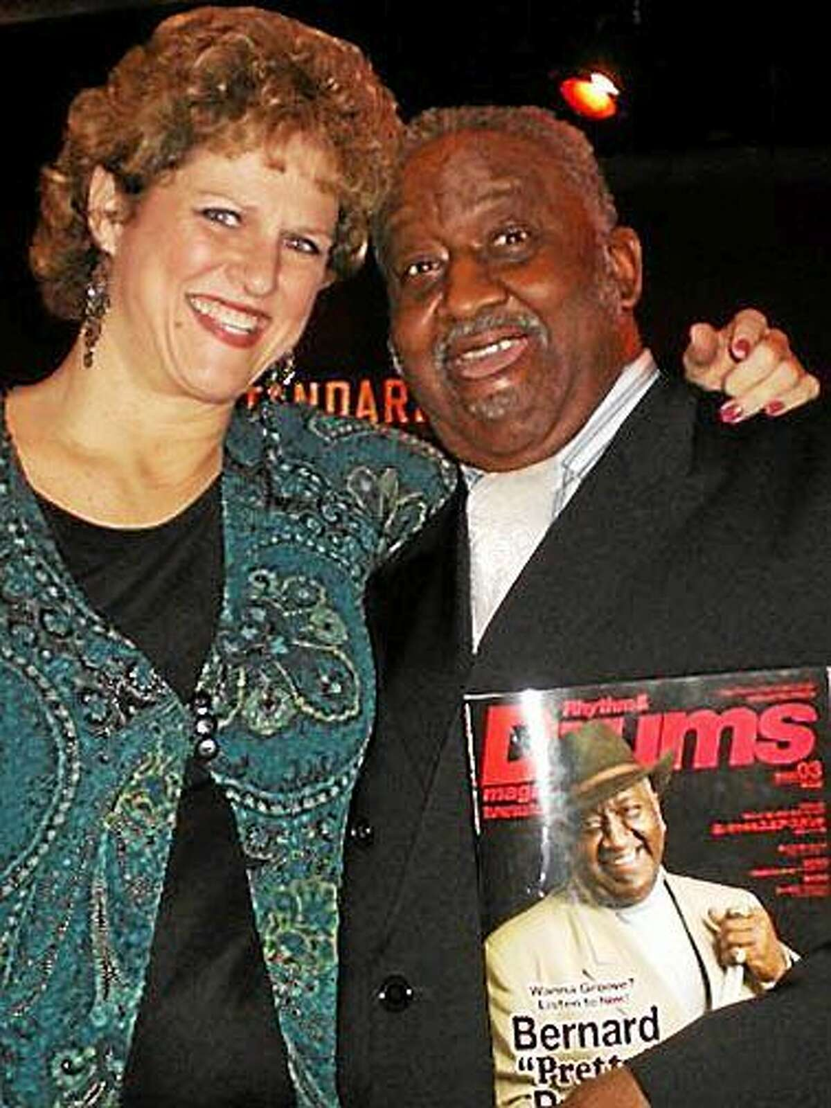 Contributed photo Drummer Bernard Purdie's Book Release party and Jazz Concert, featuring Karen Frisk, will be held at the Buttonwood Tree Feb. 21.