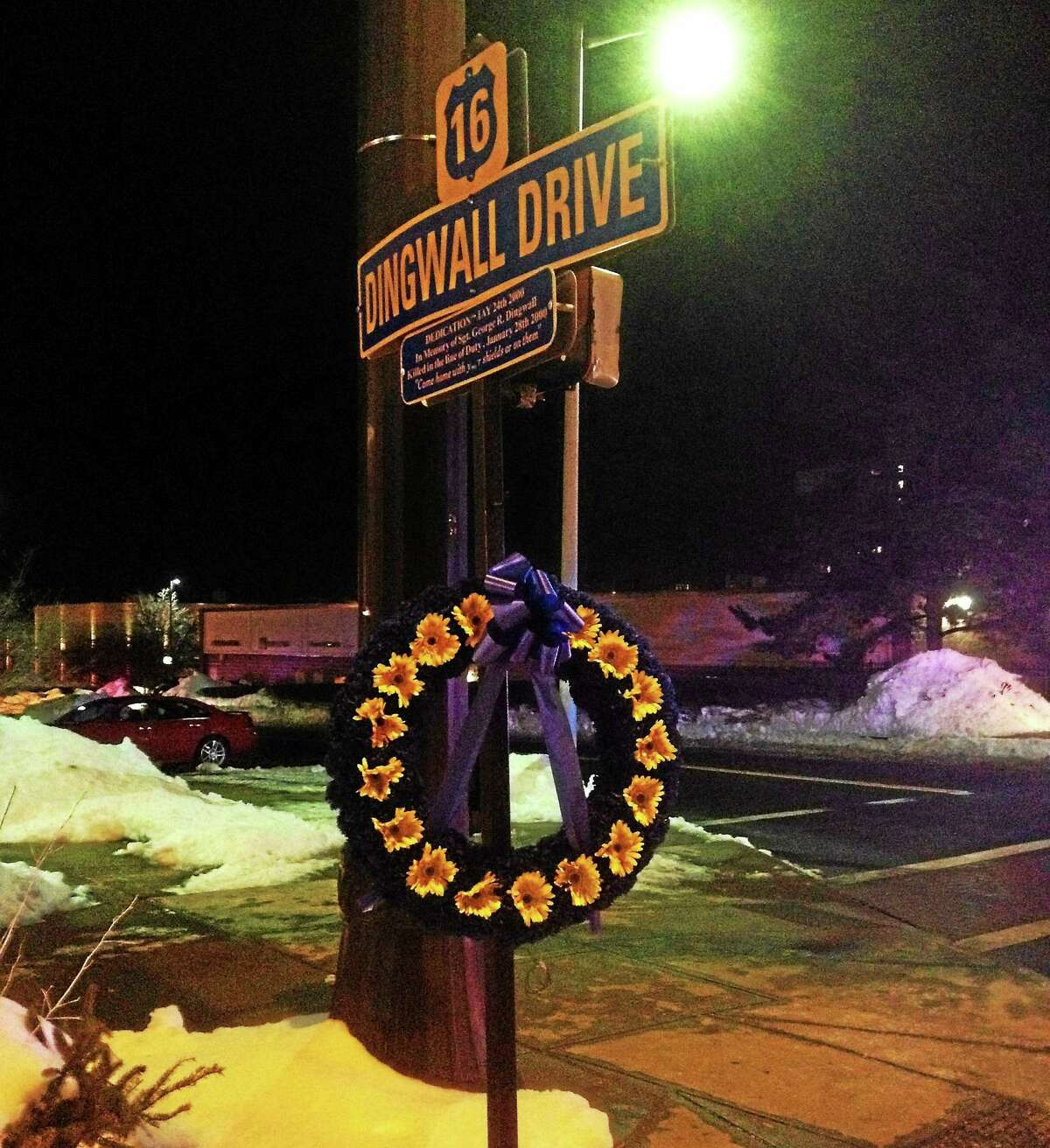 Dingwall Drive in Middletown is named for the officer who died in the line of duty on Jan. 28, 2000, when his cruiser crashed while he pursued two burglary suspects as they fled south on Route 9.