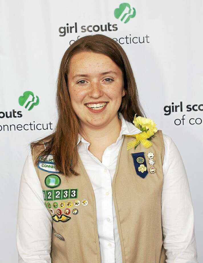 Megan Ryan of Essex received the highest honor a girl can earn in Girl Scouting recently. Photo: Submitted Photo