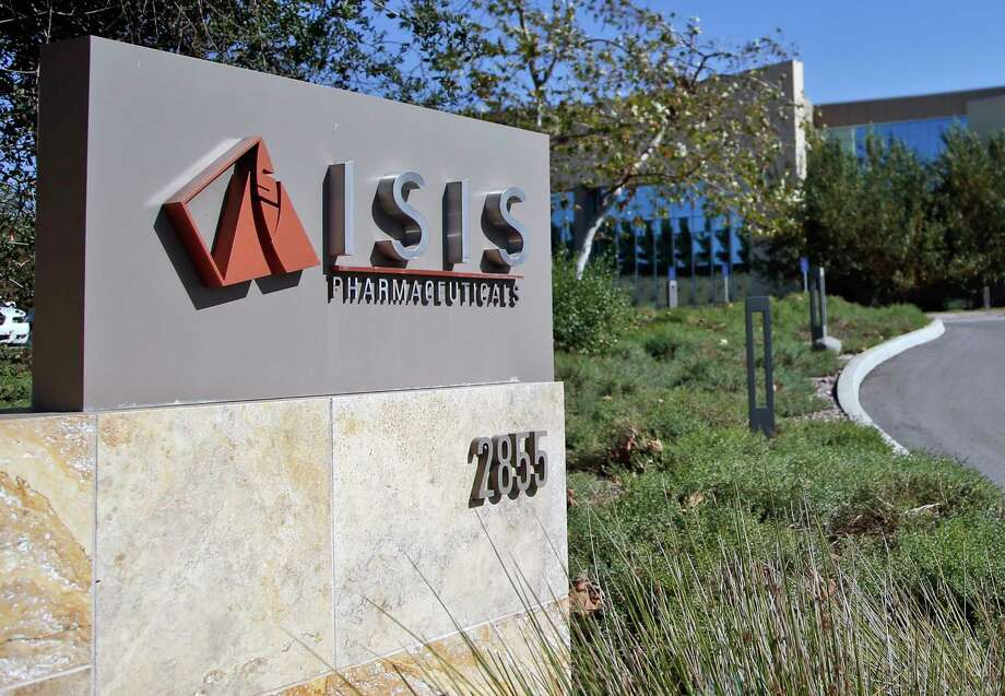 Signage outside the headquarters building of Isis Pharmaceuticals Inc. in Carlsbad, California. Photo: Lenny Ignelzi — The Associated Press  / AP