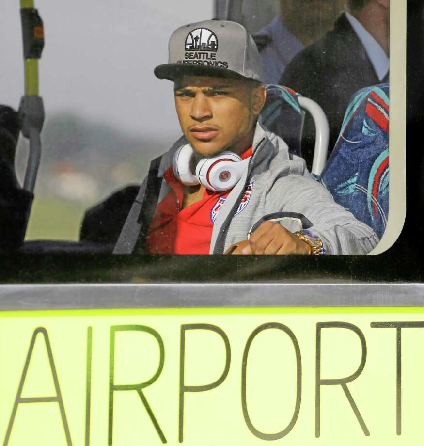 DeAndre Yedlin and the U.S. World Cup soccer team arrived in Sao Paulo on Monday. Photo: Nelson Antoine — The Associated Press  / AP