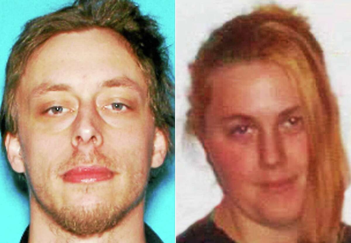 This combination made with undated photos provided by the Las Vegas Metropolitan Police Department shows Jerad Miller, left, and his wife, Amanda Miller.