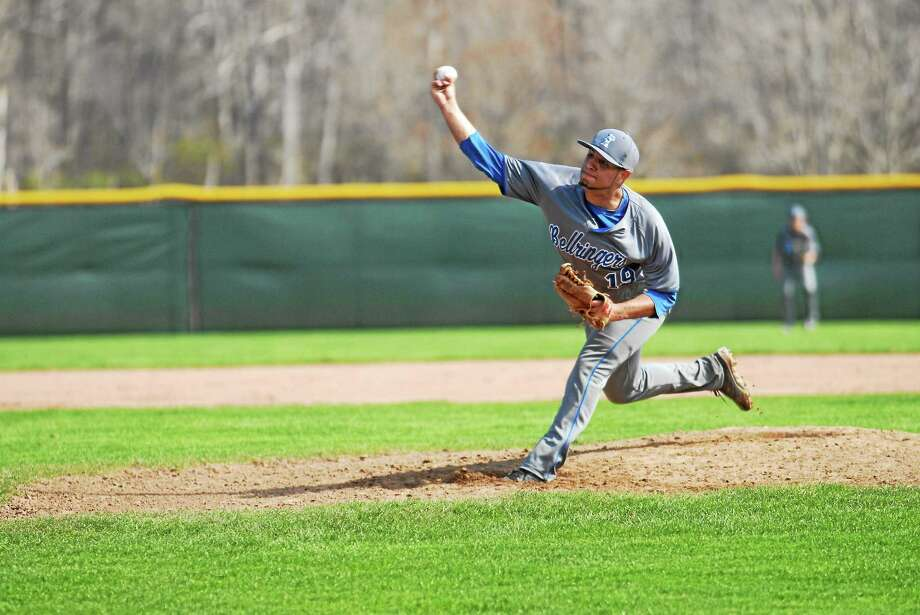 East Hampton's Marvin Gorgas was drafted by the Seattle Mariners in the 13th round of the 2014 MLB draft Photo: Jimmy Zanor — Middletown Press