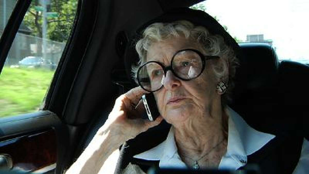 This film image released by the Sundance Selects shows Elaine Stritch in a scene from
