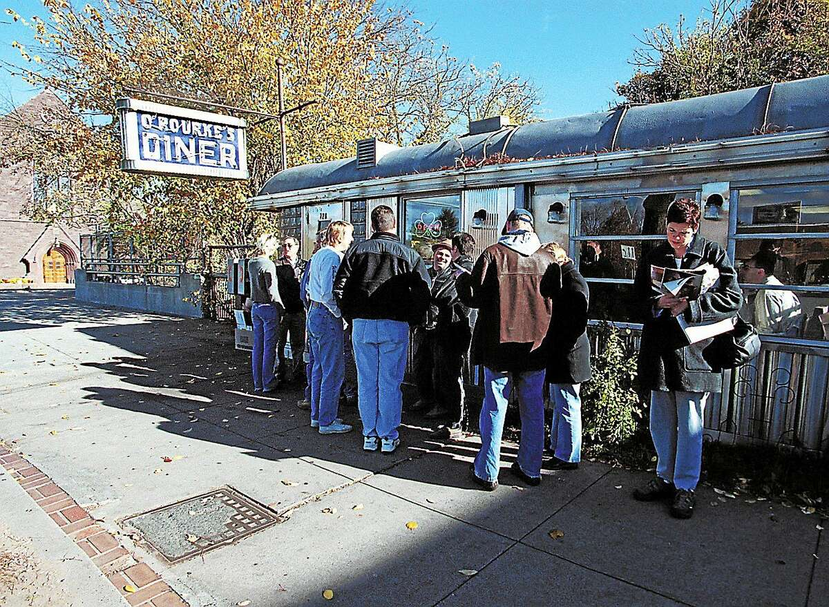 File photo Hungry patrons routinely queue up out the door and down the road on weekends at O'Rourke's Diner on Main Street in Middletow, shown in this 2002 file photo.