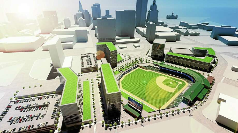 Plans for the new $60 million stadium to be built in Hartford for the 2016 season. Photo: Rendering Courtesy Of The City Of Hartford