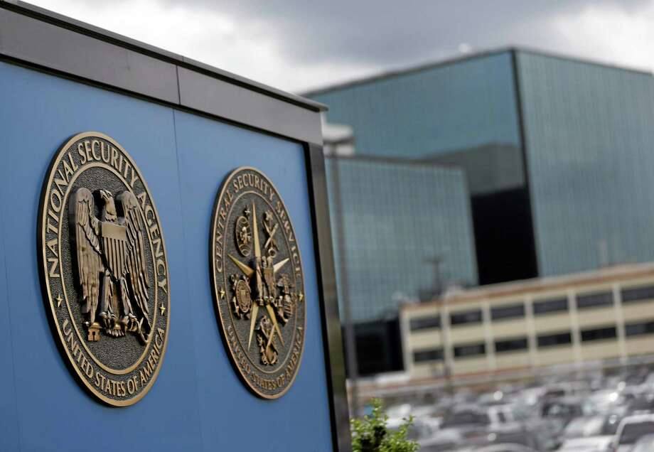 In this June 6, 2013, file photo, National Security Agency plaques are seen at the compound at Fort Meade, Md. Photo: AP File Photo  / AP