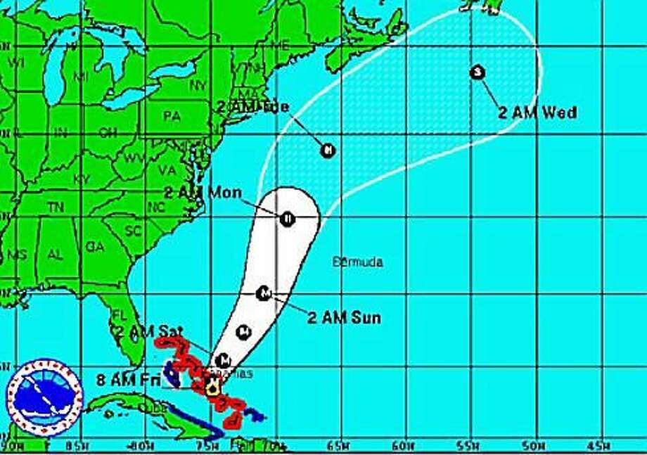 Joaquin's path Photo: National Weather Service Model