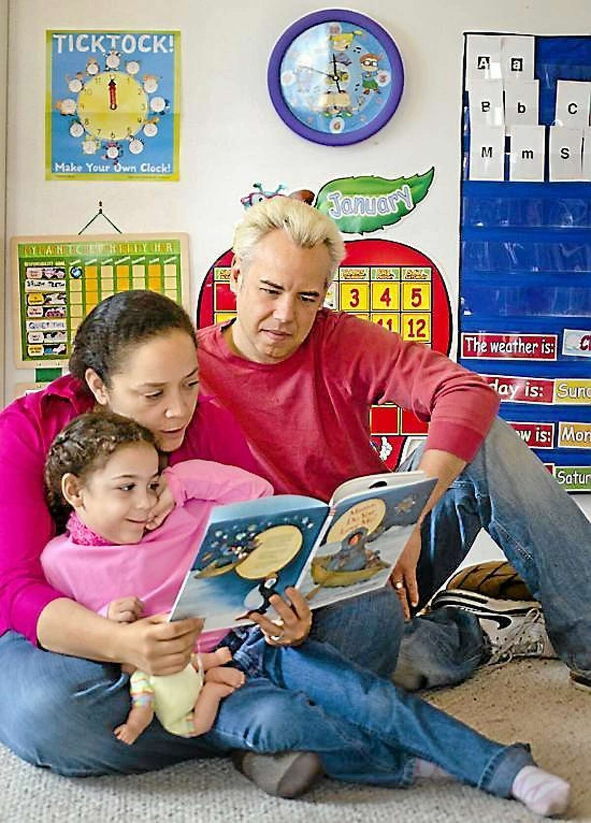 Angelique and Eric Henderson with their daughter Marielle.three. They are home schooling Marielle. Melanie Stengel/Register