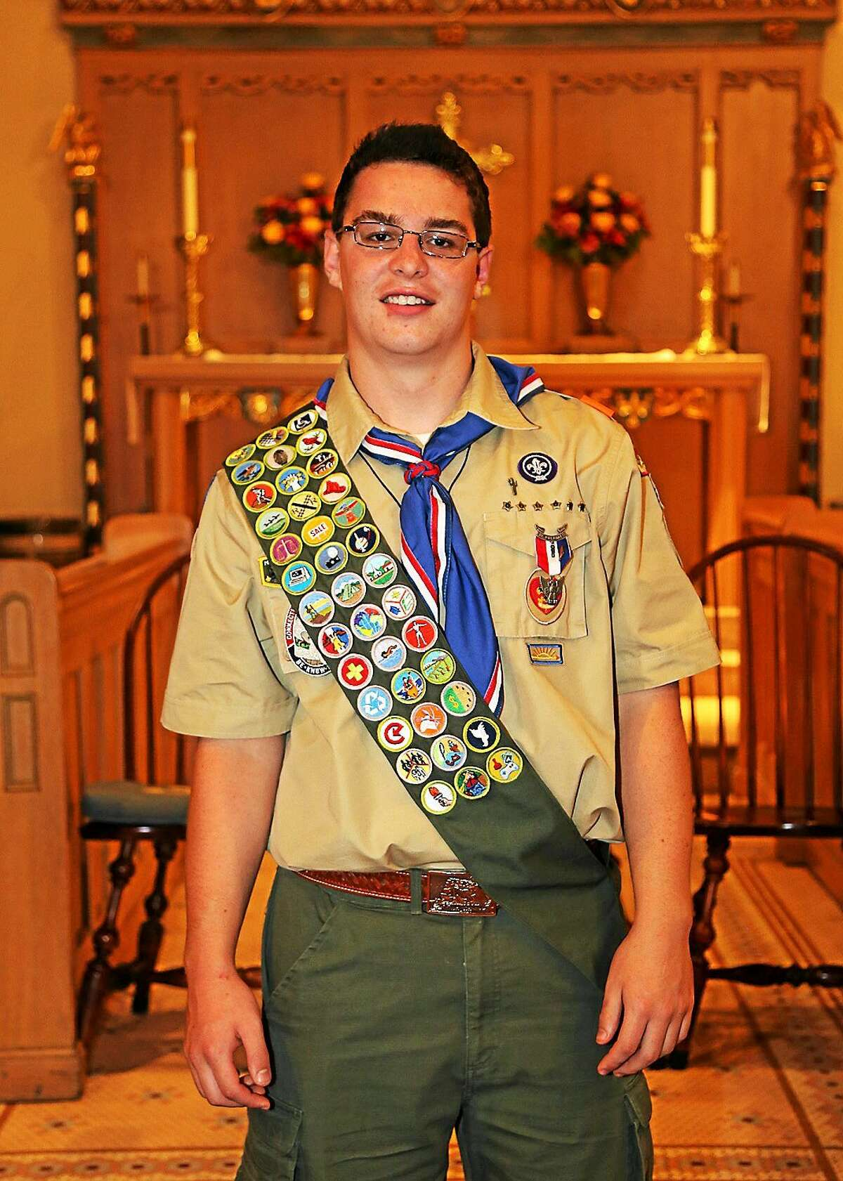 Chester/Deep River Boy Scout Troop 13 newest Eagle Scout Benjamin