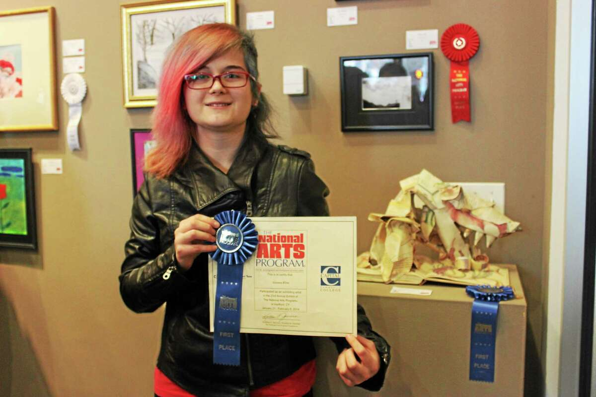 """Geonne Kline of Middletown took first place in the teen category for her work """"Once Upon a Dragon Nightmare"""" in the National Arts Program awards."""